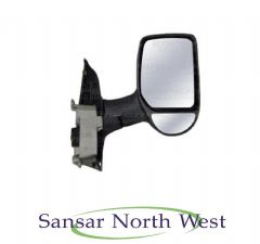 Ford Transit - Drivers Electric Door Mirror Black Cover Short Arm O/S RIGHT